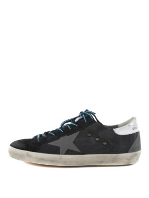 Golden Goose: trainers - Superstar suede and nylon sneakers