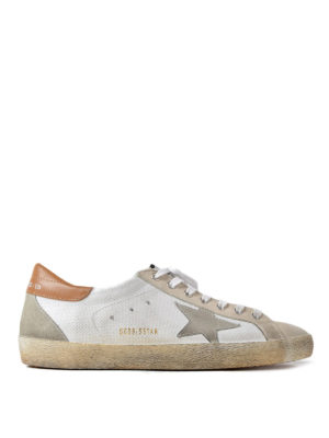 Golden Goose: trainers - Superstar suede detail sneakers