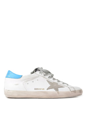 Golden Goose: trainers - Superstar suede detailed sneakers