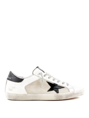 GOLDEN GOOSE: sneakers - Sneaker Superstar bianche e nere