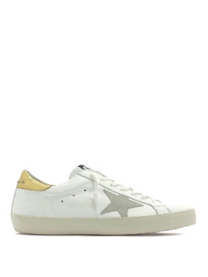 GOLDEN GOOSE  sneakers - Sneaker Superstar bianche e gialle f56e4d974