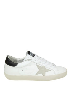 GOLDEN GOOSE: sneakers - Sneaker basse Superstar in pelle bianca