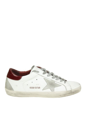 GOLDEN GOOSE: sneakers - Sneaker low top Superstar in pelle bianca