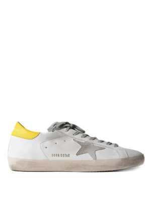 Golden Goose: trainers - Superstar yellow detailed sneakers