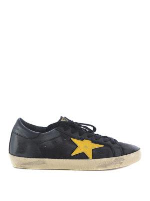 Golden Goose: trainers - Superstar yellow star sneakers