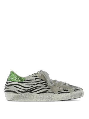 Golden Goose: trainers - Superstar zebra pony hair sneakers