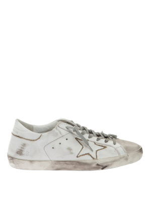 Golden Goose: trainers - Two-tone leather sneakers