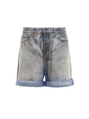 GOLDEN GOOSE: pantaloni shorts - Pantaloncini Bobby in denim
