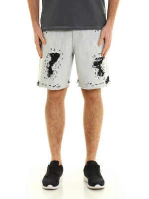 Golden Goose: Trousers Shorts online - Destroyed denim shorts