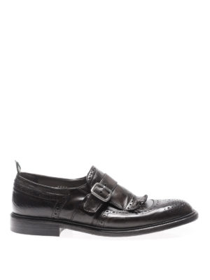 Green George: classic shoes - Maremma leather monk strap