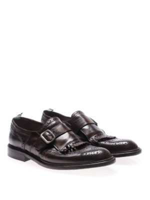 Green George: classic shoes online - Maremma leather monk strap