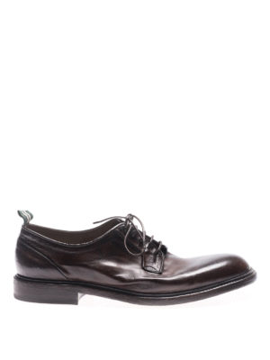 Green George: lace-ups shoes - Maremma brown vintage lace-ups