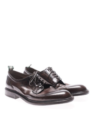 Green George: lace-ups shoes online - Maremma brown vintage lace-ups