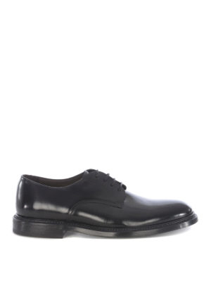 Green George: lace-ups shoes - Polished leather black derby shoes