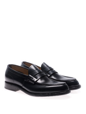 Green George: Loafers & Slippers online - Oregon blue leather loafers