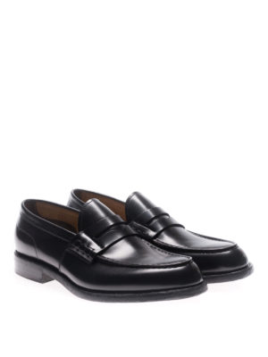 Green George: Loafers & Slippers online - Oregon brushed leather loafers