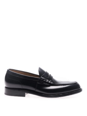 Green George: Loafers & Slippers - Oregon blue leather loafers
