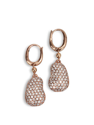 Gregio: Earrings - Zirconia detailed earrings
