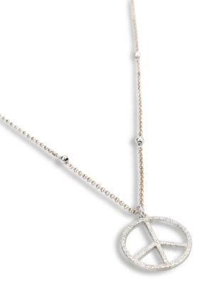 Gregio: Necklaces & Chokers online - Zirconia peace sign necklace