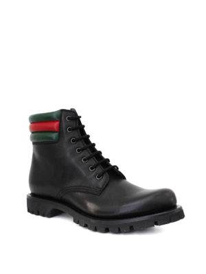 Gucci: ankle boots online - Web detailed combat boots
