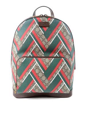 Gucci: backpacks - GG Supreme and Chevron backpack