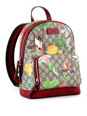 Gucci: backpacks online - Tian printed GG Supreme backpack