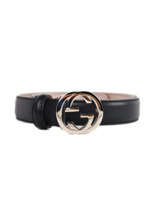 Gucci: belts - Belt with interlocking G buckle