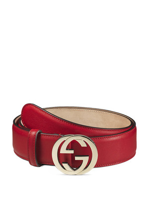 Gucci: belts - GG buckle leather belt