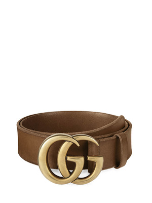 Gucci: belts - GG buckle leather belt