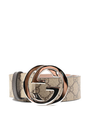 Gucci: belts - GG Supreme and leather belt