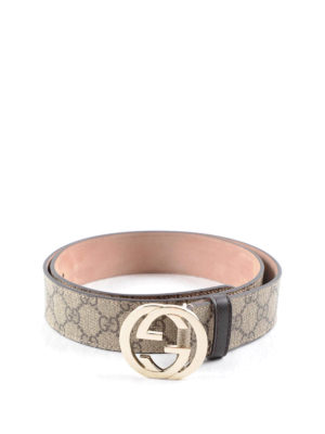 Gucci: belts - GG Supreme canvas belt