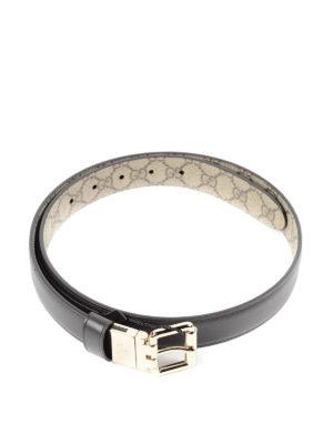 Gucci: belts - GG Supreme reversible belt