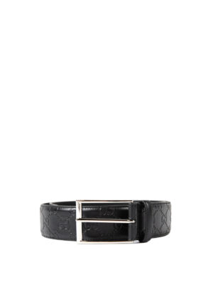 Gucci: belts - Guccissima leather belt
