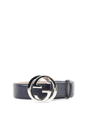 Gucci: belts - Interlocking GG leather belt