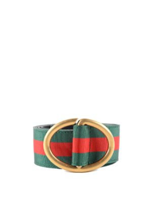 Gucci: belts - Leather and Web belt