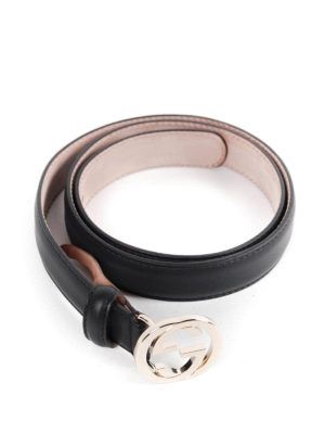Gucci: belts online - Belt with interlocking G buckle
