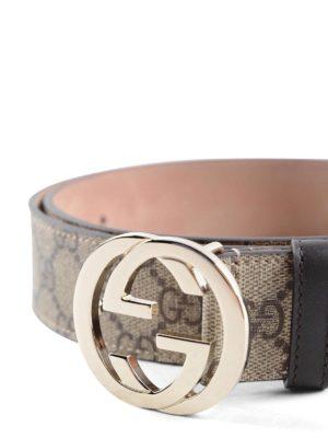 Gucci: belts online - GG Supreme belt