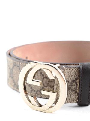 Gucci: belts online - GG Supreme canvas belt