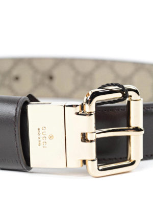Gucci: belts online - GG Supreme reversible belt