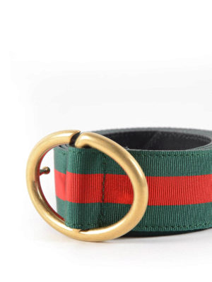 Gucci: belts online - Leather and Web belt