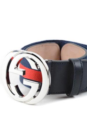 Gucci: belts online - Web belt GG buckle