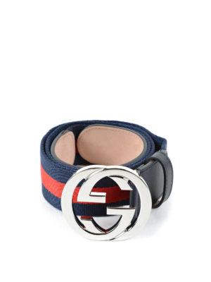 Gucci: belts - Web belt GG buckle