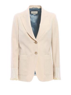Gucci: blazers - Frilled cuff detail blazer