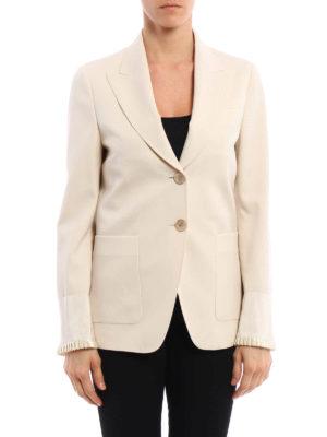 Gucci: blazers online - Frilled cuff detail blazer
