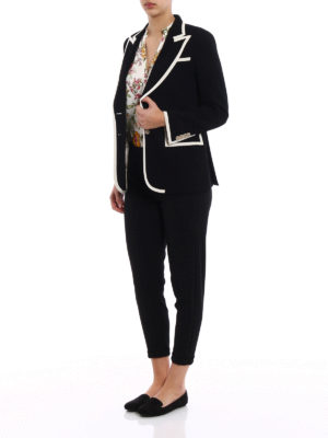 Gucci: blazers online - Grosgrain trimmed light cady blazer
