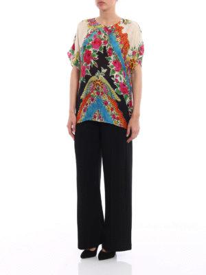 Gucci: blouses online - Patterned silk blend blouse