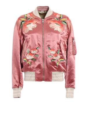 Gucci: bombers - Guccification satin bomber jacket