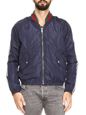 Gucci: bombers online - Nylon Web detailed bomber jacket