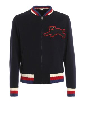 Gucci: bombers - Panther patch detail bomber