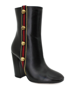 Gucci: boots online - Web detail leather boots